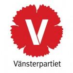 Röd V-logga med text